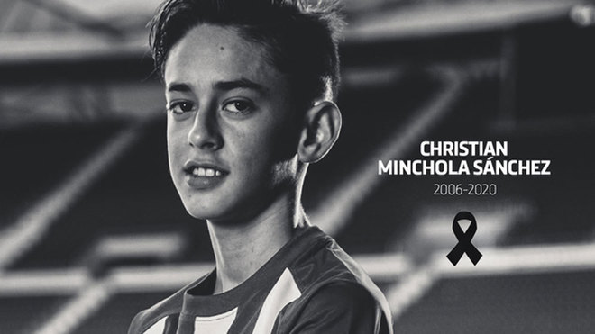 Fallece Christian Minchola, del Atlético de Madrid Infantil