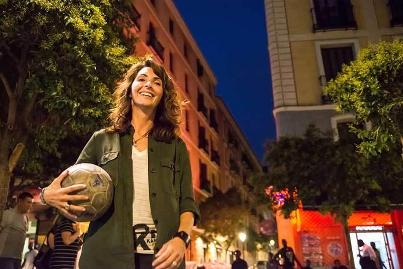 Natalia Astrain durante un reportaje fotográfico en Madrid.
