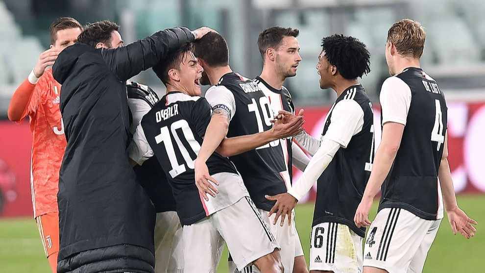 La Juventus celebra un gol esta temporada