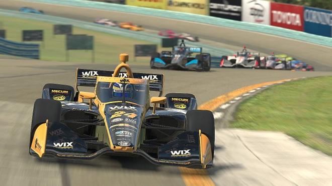 Carrera de virtual de Indy Car.