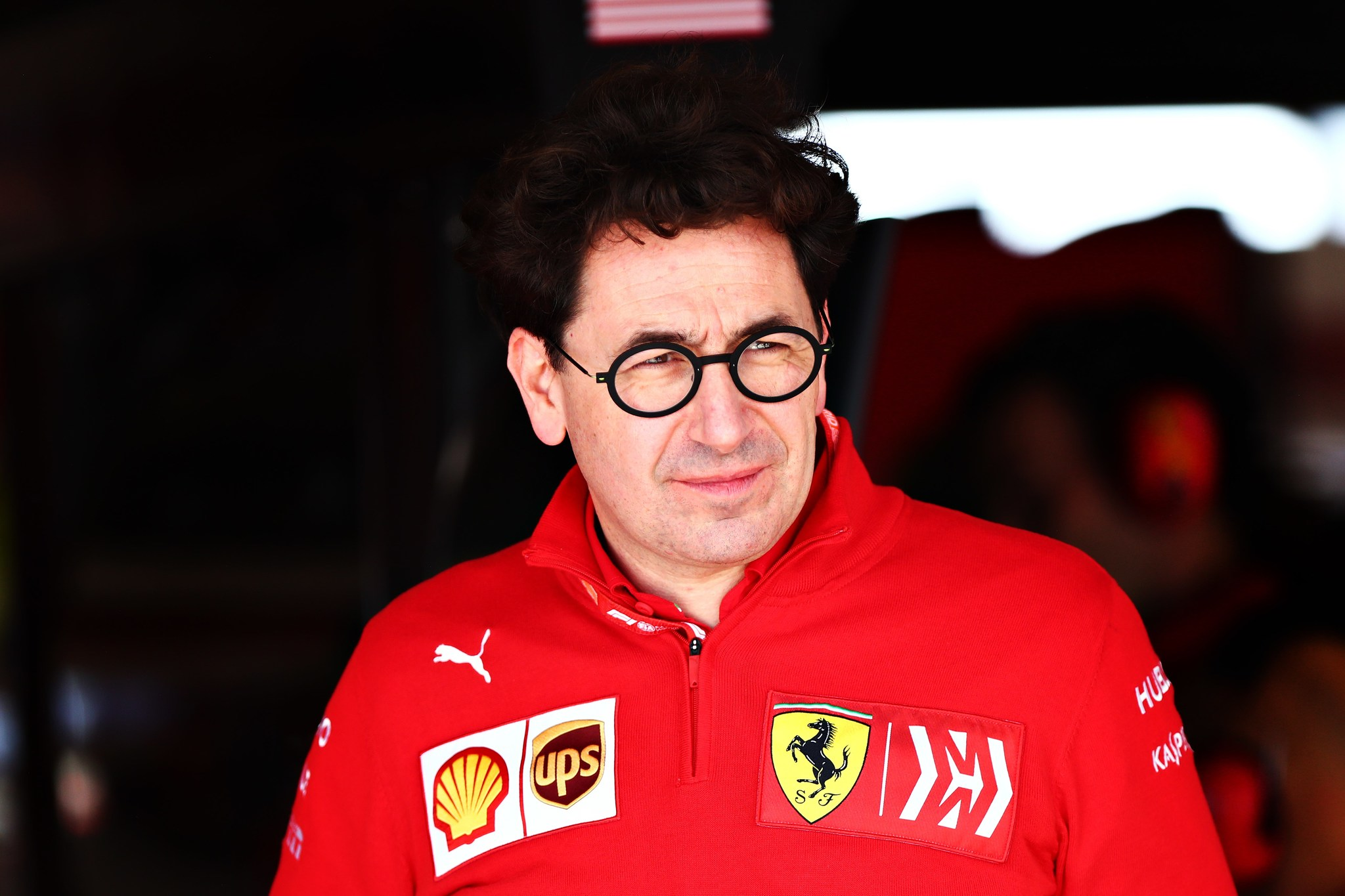 == FOR NEWSPAPERS, INTERNET, TELCOS    TELEVISION USE ONLY == AUSTIN, TEXAS - NOVEMBER 02: Ferrari Team Principal Mattia lt;HIT gt;Binotto lt;/HIT gt; looks on in the garage during final practice for the F1 Grand Prix of USA at Circuit of The Americas on November 02, 2019 in Austin, Texas. Dan Istitene/Getty Images/AFP