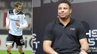 Crouch y Ronaldo.