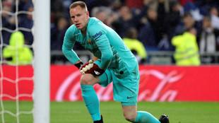 Ter Stegen, en el último Real Madrid-Barcelona disputado en el...