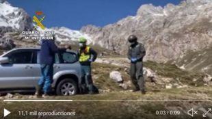 La Unidad de Helicópteros (UHEL) de Asturias localizó el vehículo...