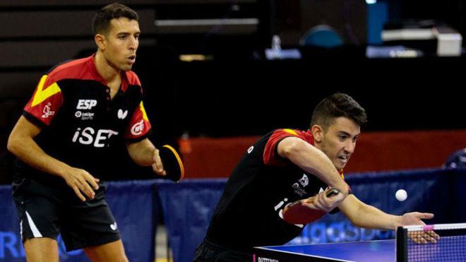 Álvaro Robles y Carlos Caballero, en el ITTF Challenge Spanish Open...