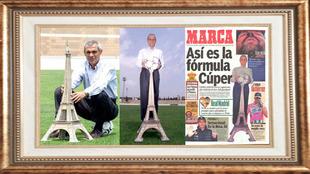 Dos fotos de Héctor Cúper en Paterna y cómo quedó en la portada de...