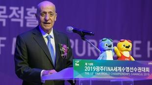 El presidente de la FINA, el uruguayo Julio Maglione.
