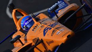 Alonso, en la Indy 500, en 2019.