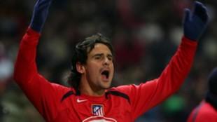 García Calvo en su estapa como jugador del Atlético de Madrid.
