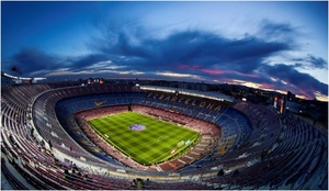 Vista panorámica del Camp Nou.