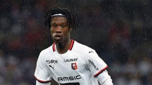 Camavinga, en un partido con el Rennes