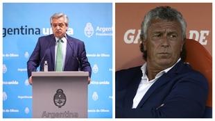 Alberto Fernández, a la izquierda. Néstor Gorosito, a la derecha.