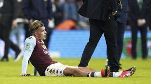 Jack Grealish se lamenta después de perder la final de la Copa de la...