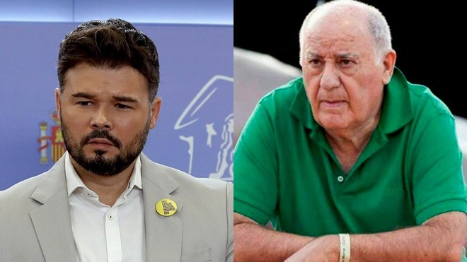 Gabriel Rufian carga contra Amancio Ortega en Twitter