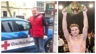 Javi Castillejo, ayer, y cuando fue campeón del mundo WBC.