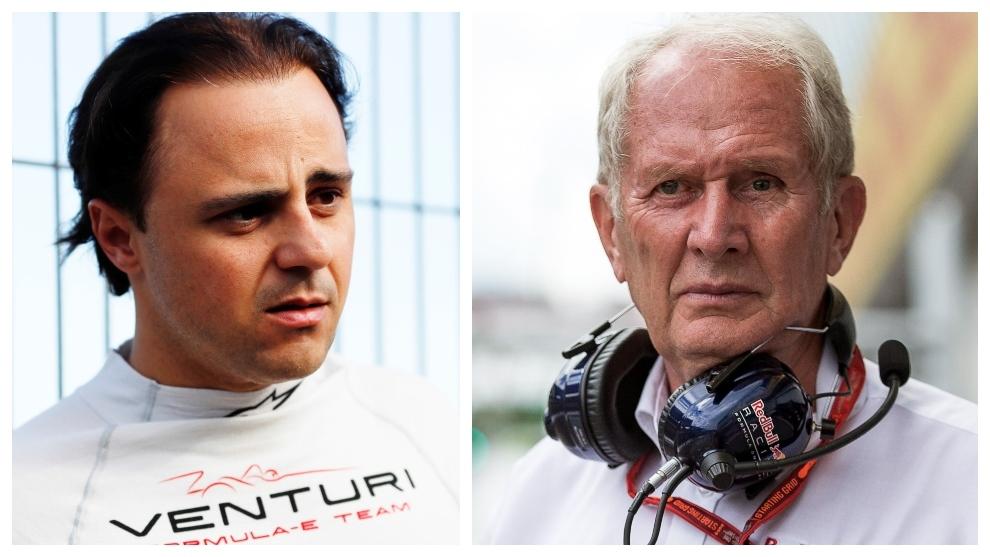 Felipe Massa y Helmut Marko.