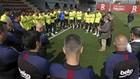 Reunión de la plantilla con Bartomeu en la Ciudad Deportiva.