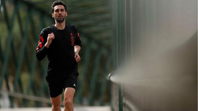 Álvaro Arbeloa, durante un entrenamiento