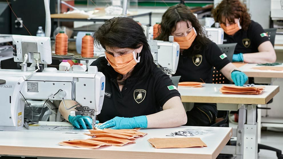 Sant'Agata Bolognese, fábrica de Lamborghini, durante el coronavirus.