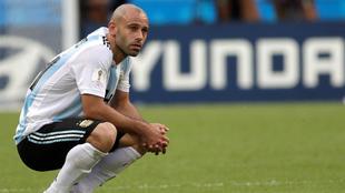 Mascherano, con Argentina.