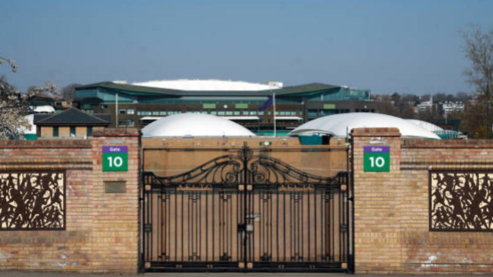 The entrance to the All England Club at Wimbledon