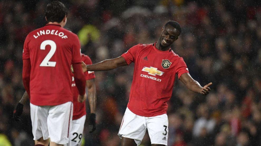 Lindelof e Ighalo, con el Manchester United
