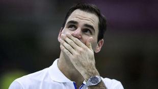 Federer llora en la pista