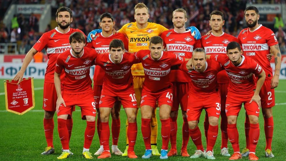 La plantilla del Spartak de Moscú