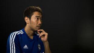 Shinji Kagawa, durante una entrevista reciente con MARCA