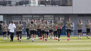 Imagen de archivo de un entrenamiento del Real Madrid, durante esta...