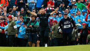 Shane Lowry celebra la victoria en la última edición del Open