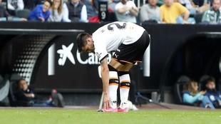 Maxi en el momento de la lesión.