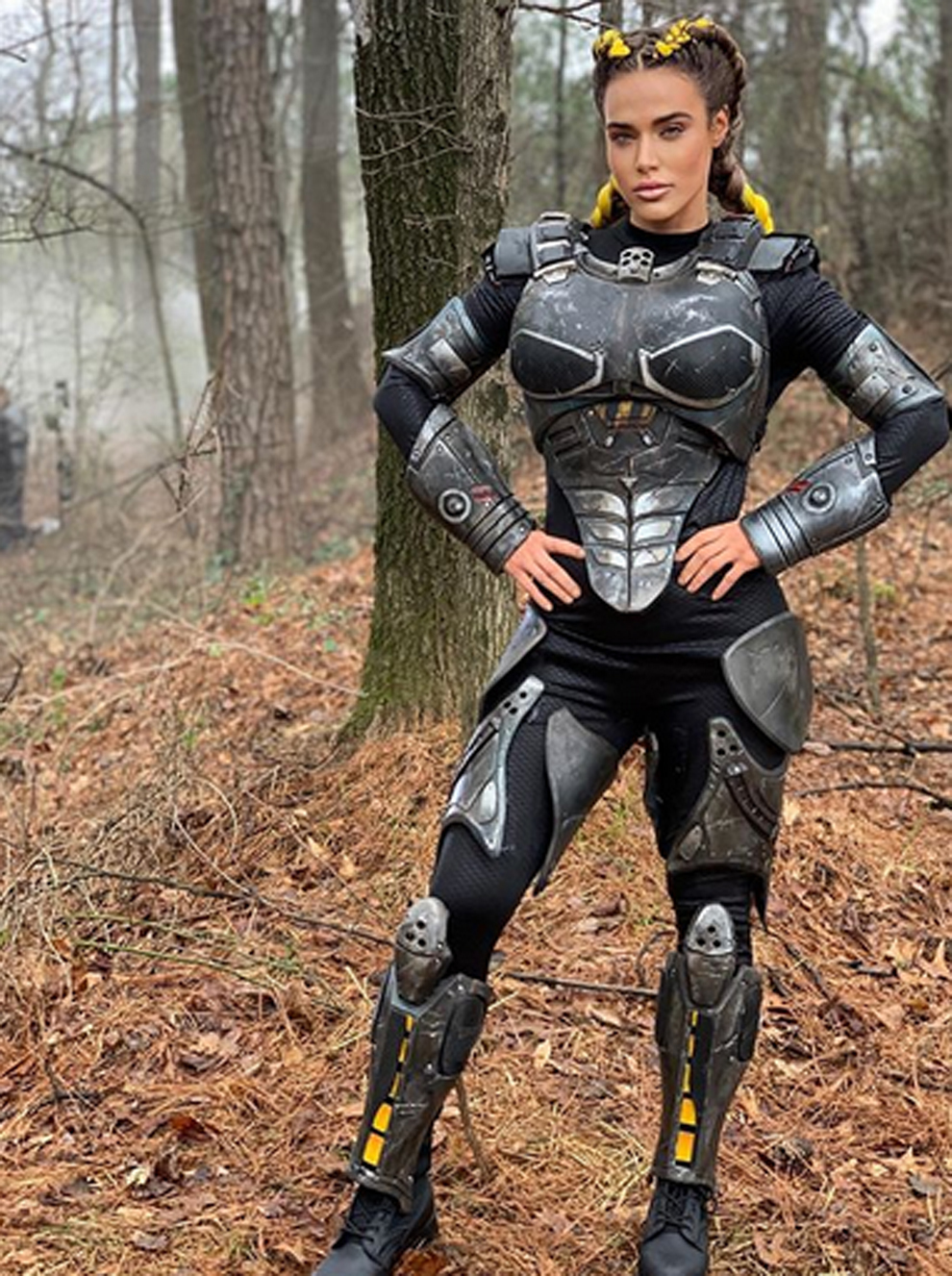 CJ Perry, famosa luchadora conocida en la WWE como Lana, en su papel...