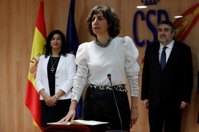 Irene Lozano, secretaria de Estado, en la toma de posesión.