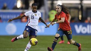 Marta Cardona, en el partido que jugó con España contra Estados...