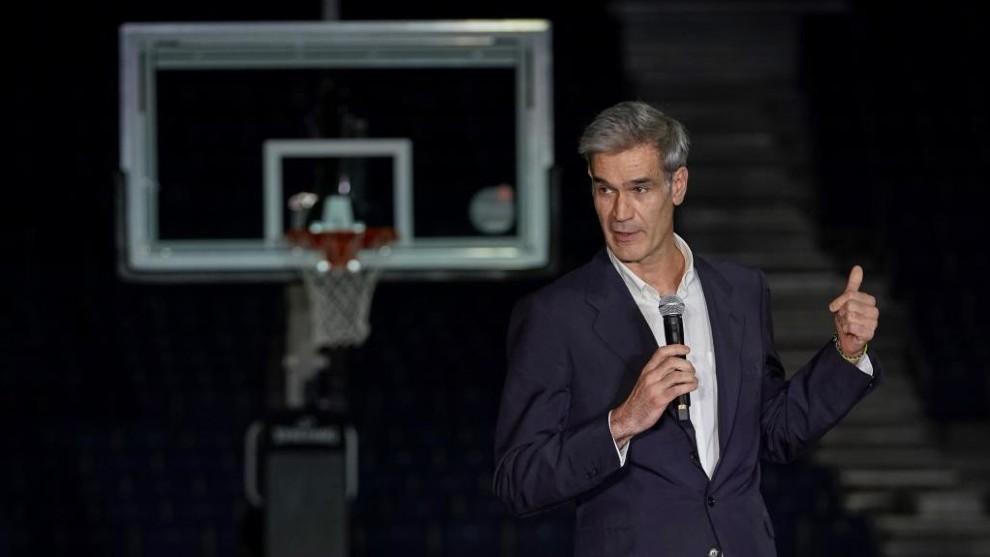Antonio Martín, durante el acto de presentación de la Liga ACB...