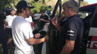 Alonso y Sainz, juntos en el Rally de Marruecos.