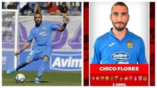 Chico Flores, en un partido con el Fuenlabrada.
