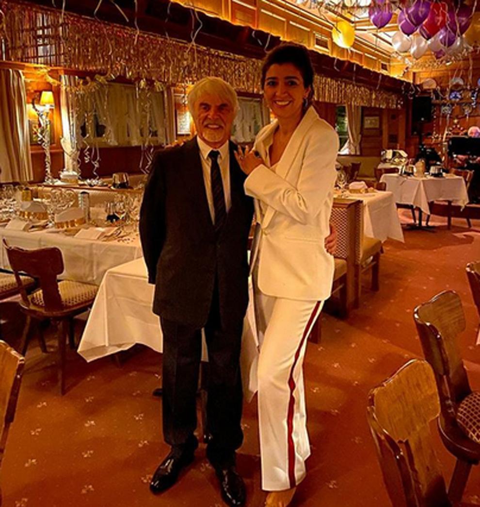 Bernie Ecclestone y Fabiana Flosi