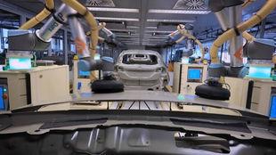 La cadena de montaje de Ford en Valencia.