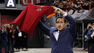 Totti, en 2018 en el Olímpico de Roma.