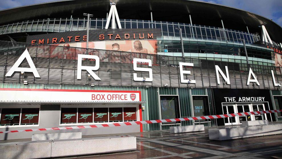 Panorámica del estadio del Arsenal.