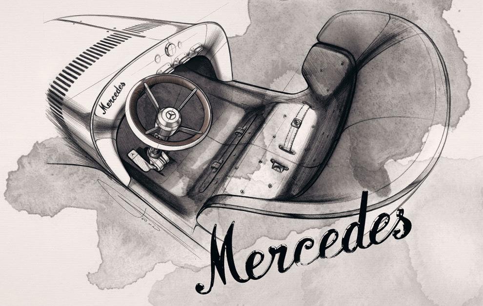 No sería mala idea que un día futuros modelos de Mercedes volvieran a lucir el nombre en cursiva.