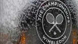 El escudo de Wimbledon, congelado