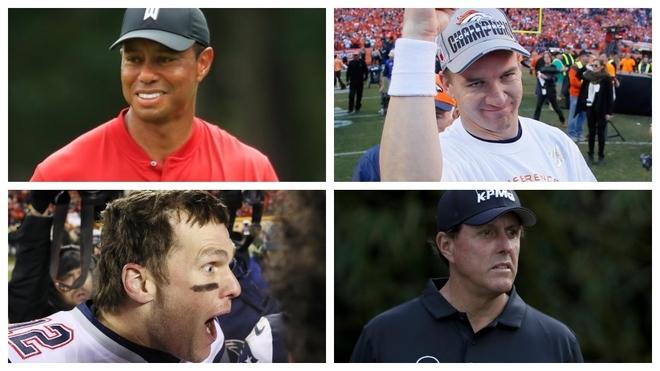 Tiger, Manning, Brady y Mickelson.