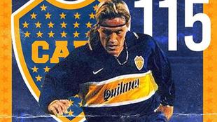 El Matador en su etapa en Boca.