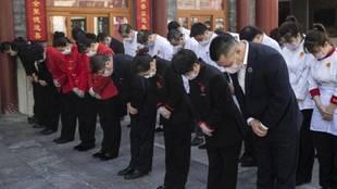 Tres minutos de luto nacional en China por las víctimas del...