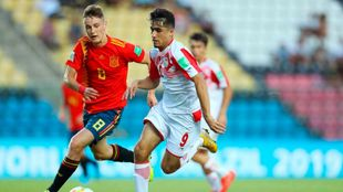 Imagen de un partido del Mundial Sub 17 entre España y Tayikistán.