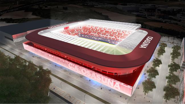 Proyecto Muro Rojo de OFS Architects para Osasuna.