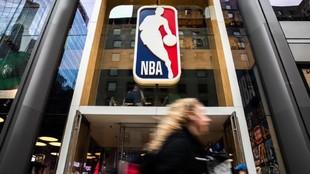 Una tienda de la NBA en Nueva York.